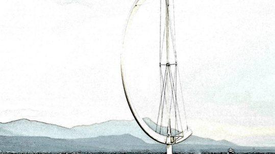 Sculpture Eole photographiée en mode BD.