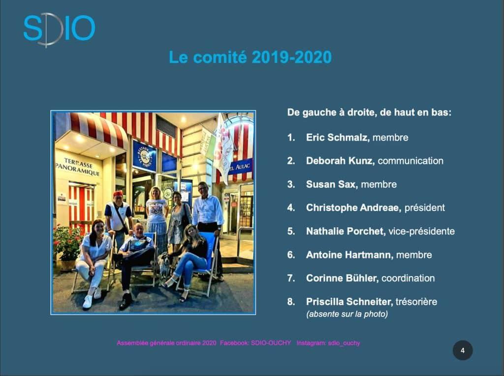 Le comité de la SDIO 2020, photographié devant l'hôtel Aulac à Ouchy