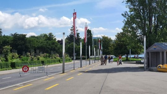 Quais d'Ouchy et de Belgique sans voitures ni bus et motos du 26 juin au 19 septembre 2021